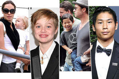 As now look children of Angelina Jolie and Brad Pitt