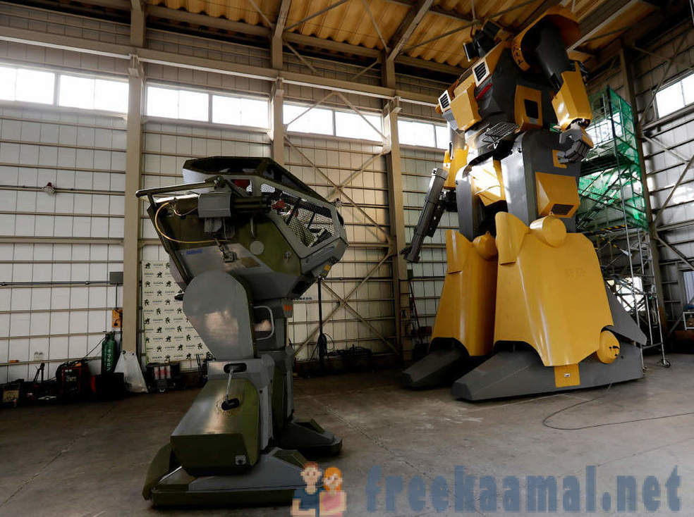 Japanese engineer constructs a huge robots
