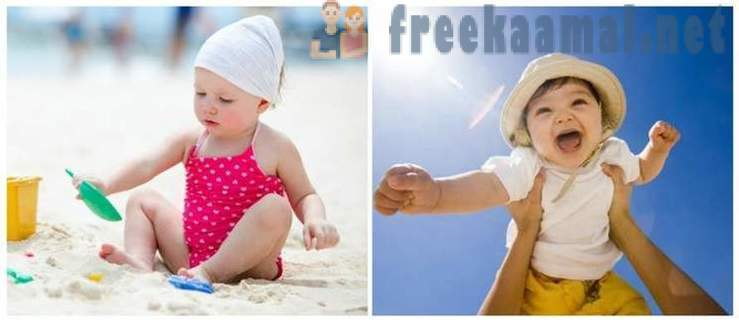 As a beach holiday effect on the child's body