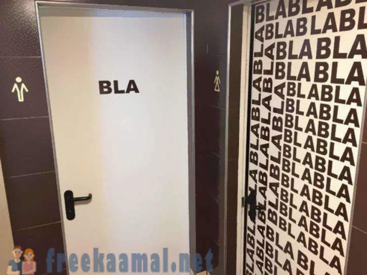 The most unusual bathroom signs
