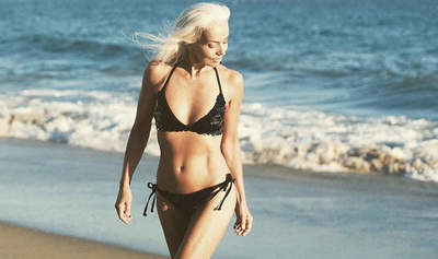 61-year-old Yasmina Rossi shot for advertising swimwear