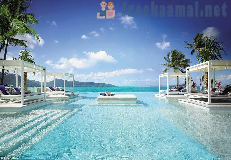 For the rich and famous: it looks like a five-star holiday resort on the One and Only Hayman Island in the Great Barrier Reef