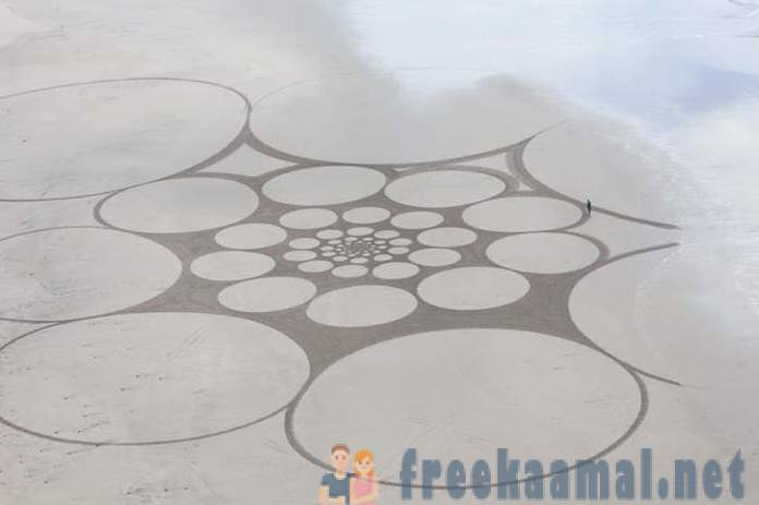 So beautiful, but ephemeral patterns on the sand