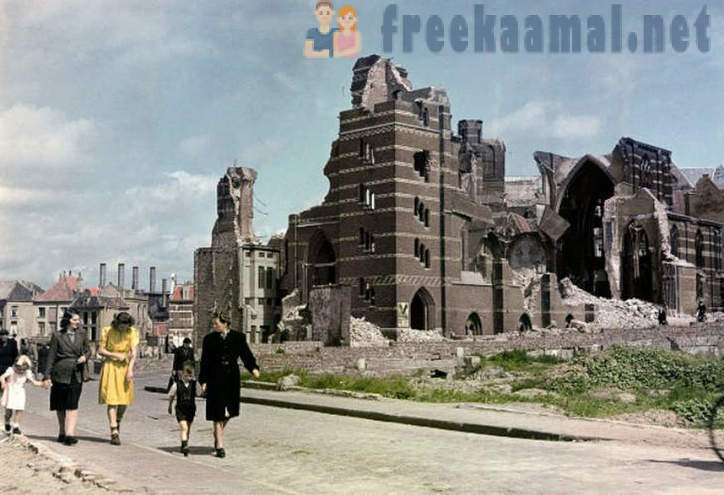 What looked like Europe after World War II