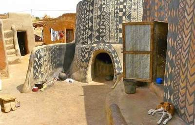 African village where every house - a work of art