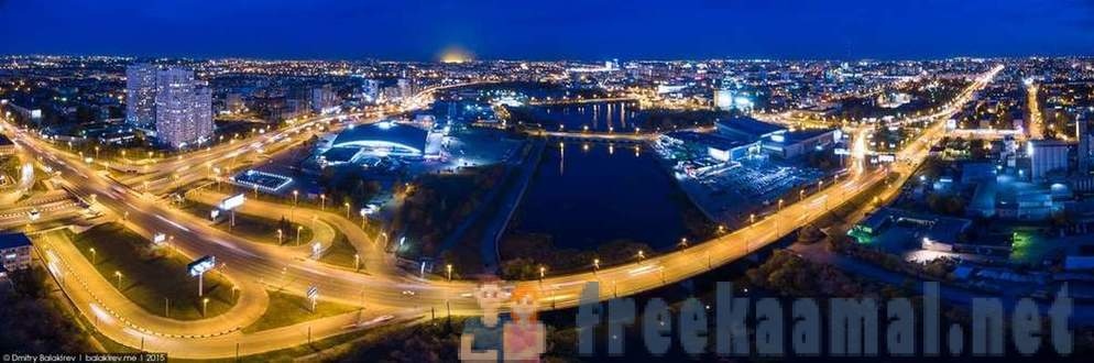 Panorama Night Chelyabinsk from height