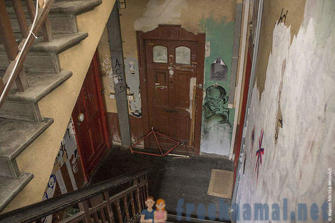 Abandoned house in Berlin and apartment squatters