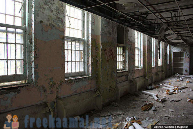 An abandoned mental hospital in New York City