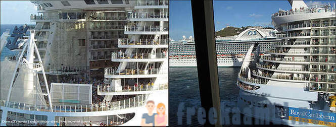 A routine day on a cruise ship