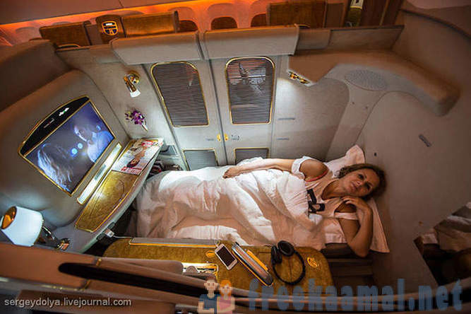 Flying first class airline on Emirates