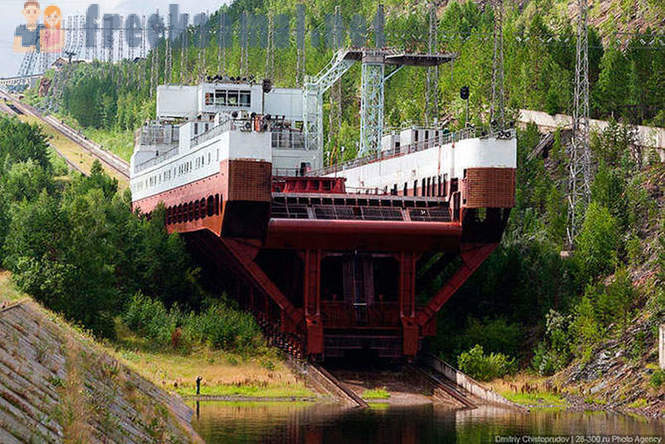 Russia's only ship lift