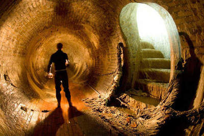 Underground tunnels under London and New York
