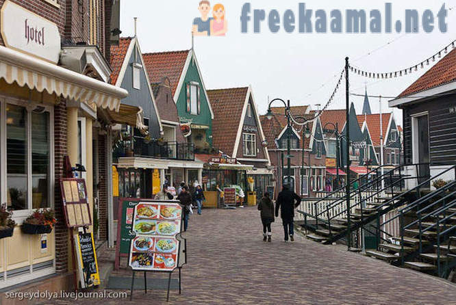 Fishing village in the Netherlands