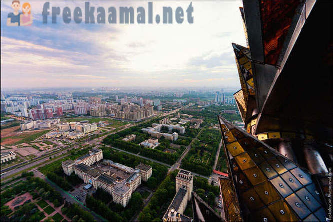 Photos from the uppermost point of the Moscow State University