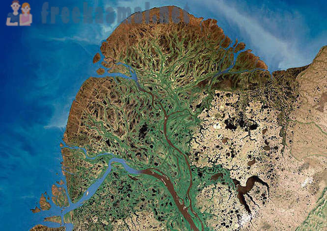 How are rivers of the world from a satellite
