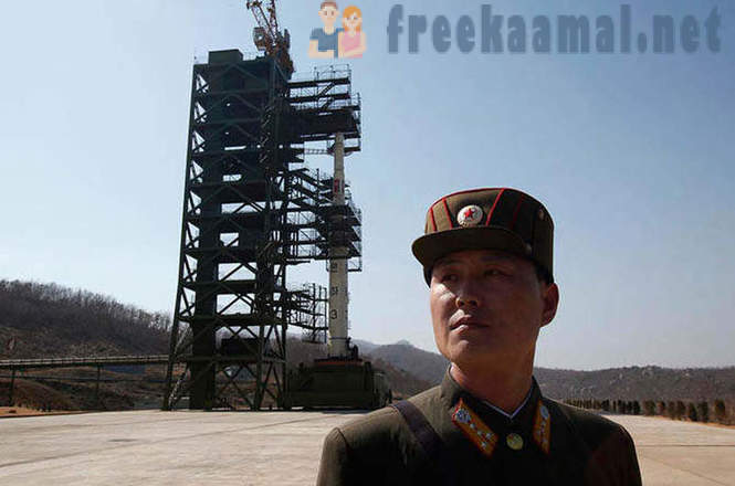 North Korea launches space rocket